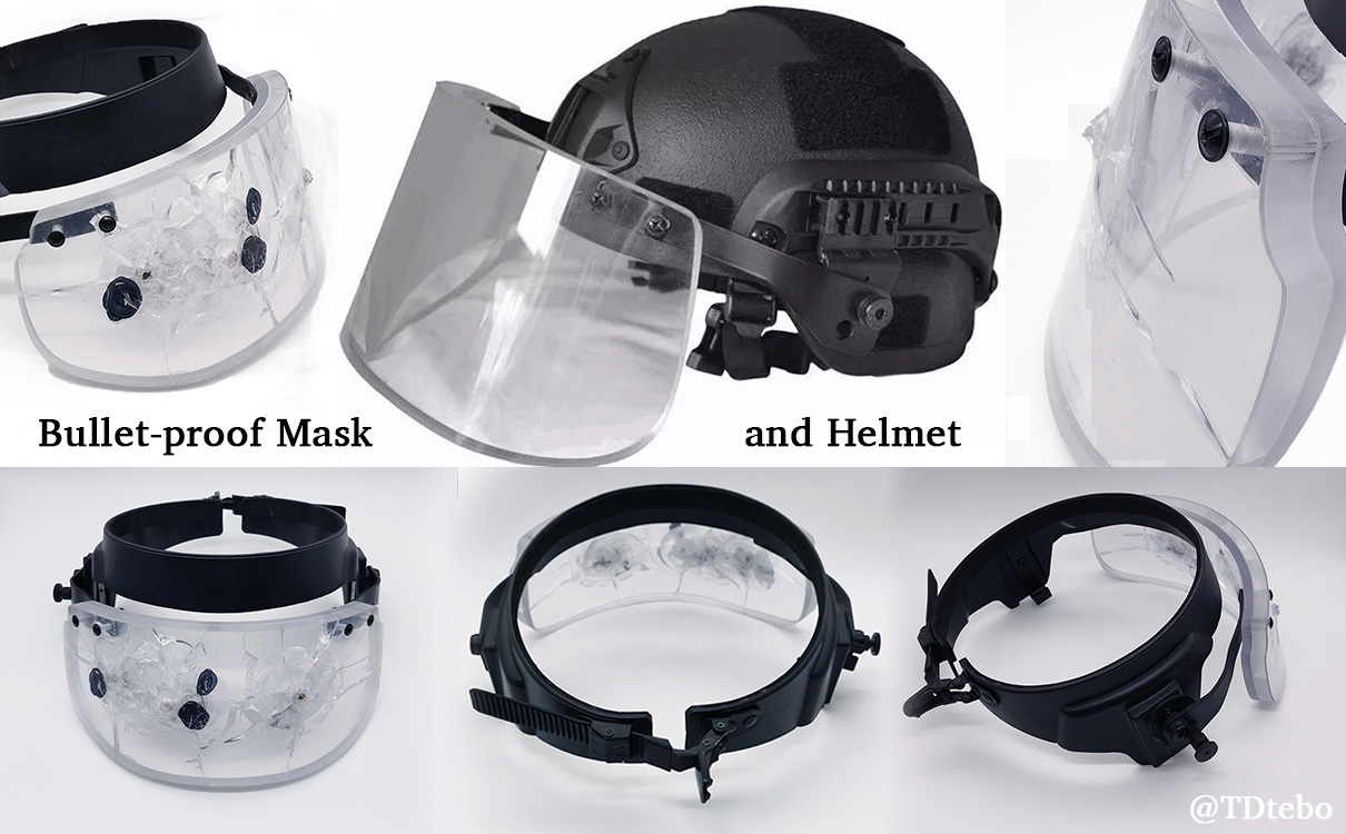bulletproof mask and helmet